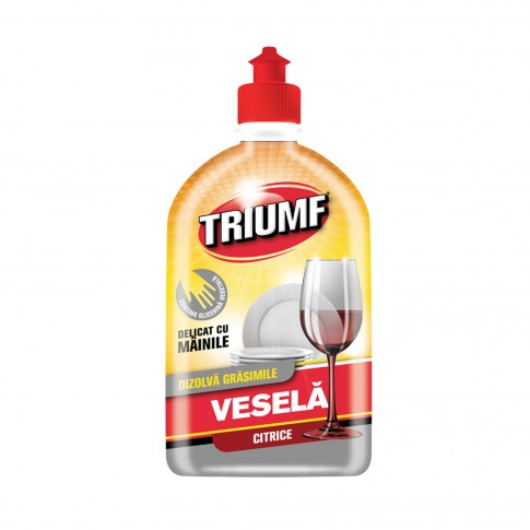 Detergent lichid pentru vase Triumf, aroma citrice, 500 ml