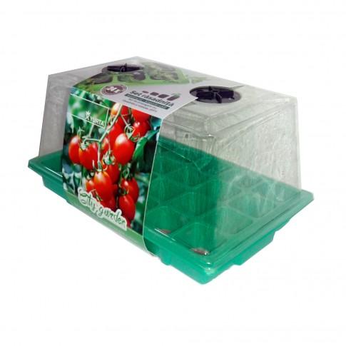 Minisera pentru rasaduri, cu 24 pastile turba, Yurta Jiffy City