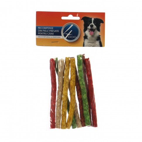 Hrana uscata pentru caini 4 Dog, vita, baton, 12.5 cm, 10 buc