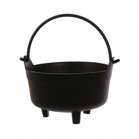 Ghiveci din plastic tip ceaun, negru D 24 cm