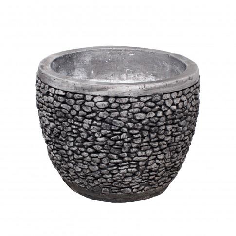 Ghiveci din beton Roca, rotund, 52 x 41 cm