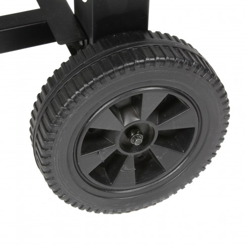 Gratar de gradina, cu carbuni, Landmann Wagon XXL Grillchef 11510, fix, din metal, cu roti deplasare