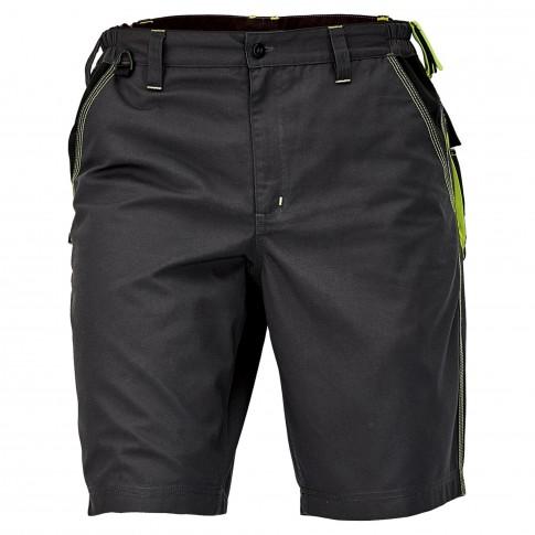 Pantaloni scurti pentru protectie Knoxfield, bumbac + poliester, gri-galben, marimea 48