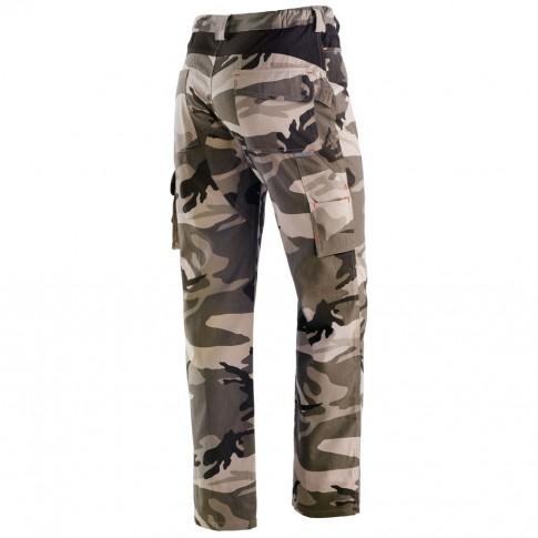 Pantaloni pentru protectie Panther, bumbac, camuflaj, marimea M