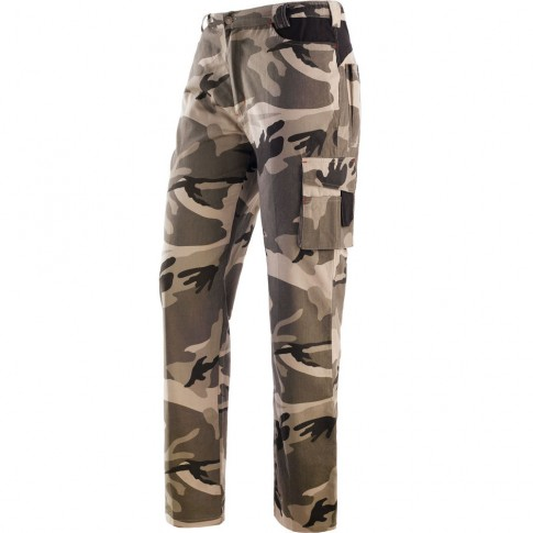 Pantaloni pentru protectie Panther, bumbac , camuflaj, marimea L