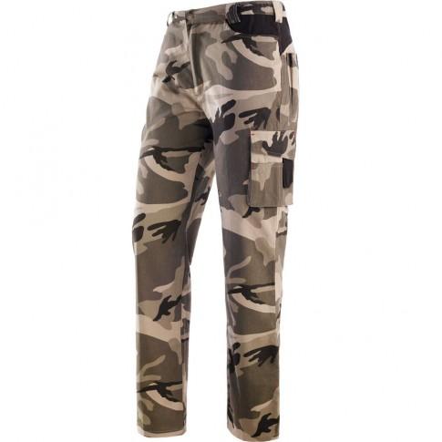 Pantaloni pentru protectie Panther, bumbac, camuflaj, marimea XL