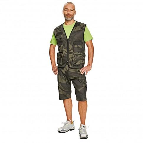 Pantaloni scurti pentru protectie Crambe, bumbac + poliester, camuflaj, marimea XL