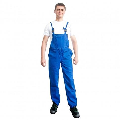 Pantaloni pentru protectie DCT Vito, pieptar, 240 g/mp, albastru, 50