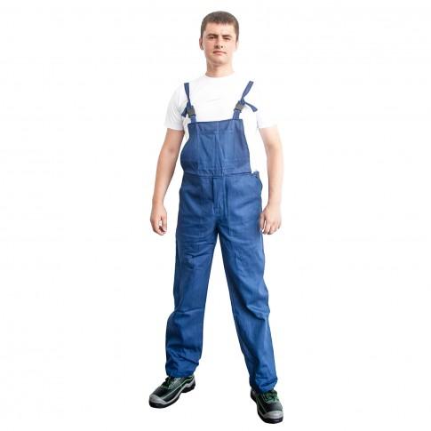 Pantaloni pentru protectie DCT Vito, pieptar, 240 g/mp, bleumarin, 52