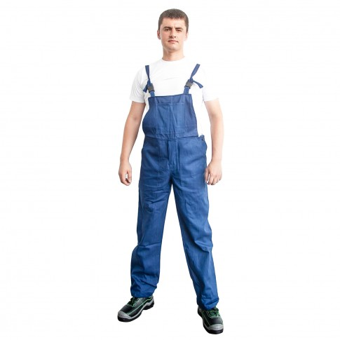 Pantaloni pentru protectie DCT Vito, pieptar, 240 g/mp, bleumarin, 56