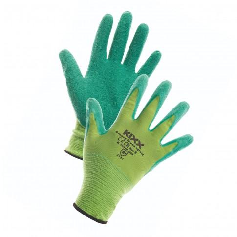 Manusi pentru gradina Marvel Groovy, nylon + latex, verde, marimea 9