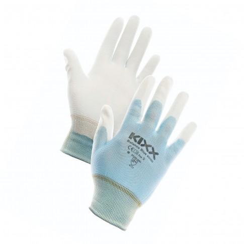 Manusi pentru gradina Marvel Balance, nylon + poliuretan, albastru + alb, marimea 7