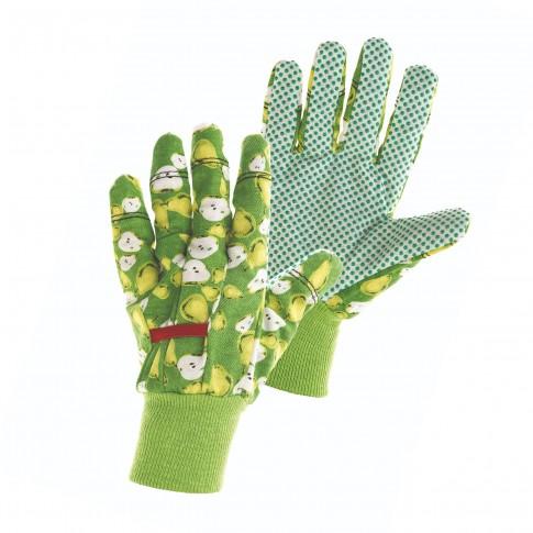 Manusi pentru gradina Marvel Fast Fruit, bumbac + PVC, verde + alb, marimea 8