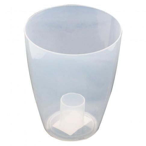 Ghiveci din plastic, pentru orhidee, Miltonia, transparent, D 16.3 cm