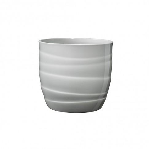 Masca ghiveci Barletta, rotunda, ceramica, gri, D 13 cm