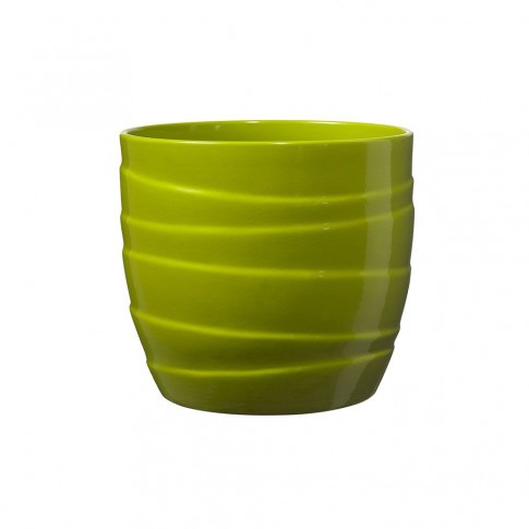 Masca ghiveci Barletta, rotunda, ceramica, verde, D 16 cm