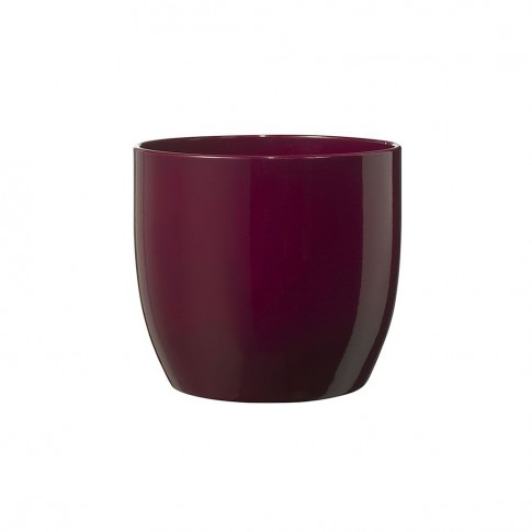 Masca ghiveci Basel, rotunda, ceramica, cyclam, D 13 cm