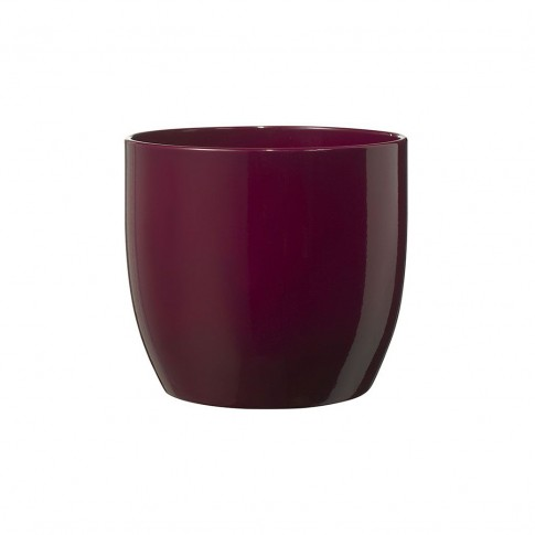 Masca ghiveci Basel, rotunda, ceramica, cyclam, D 14 cm