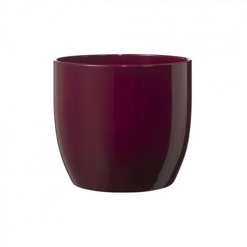 Masca ghiveci Basel, rotunda, ceramica, cyclam, D 16 cm