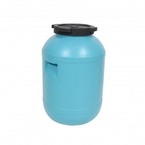 Bidon Dolplast, plastic, albastru, cu capac, 65L