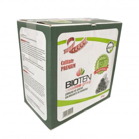 Carbune pentru gratar Bioten, din brichete de rumegus, 3kg