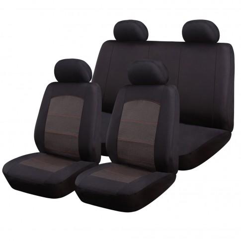 Huse auto pentru scaun, Ro Group, New Style, negru + grena, set 9 bucati