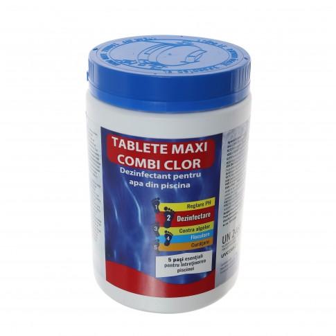 Clor maxi Combi tablete, pentru apa piscina, 1 Kg