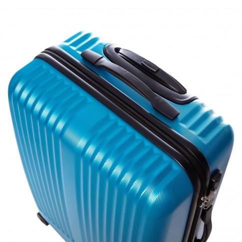 Troler Rainbow, ABS, albastru, 65 x 42 x 28 cm