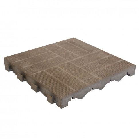 Placa podea, WPC, exterior, maro, 400 x 400 x 45 mm