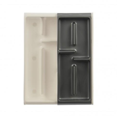Suport bucatarie, din polipropilen pentru tacamuri, etajat, 41 x 30 x 7 cm