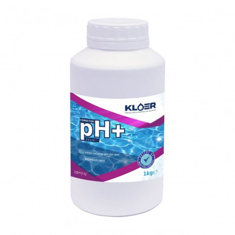 Corector pH plus, Kloer, solid, pentru apa piscina, 1 kg