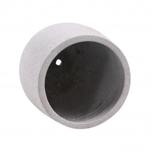 Ghiveci din ciment DHH005, rotund, 27 x 27 cm
