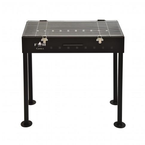 Gratar gradina, cu carbuni, Premium 3172, portabil, otel, 58 x 30 cm