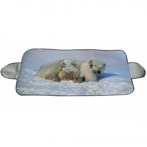 Protectie auto antigheata, pentru parbriz, Polar Bear, 150 x 70 cm