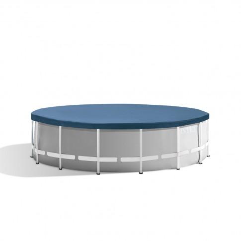 Piscina cu cadru metalic, Intex 26726NP , rotunda, cu pompa de filtrare + scara, 457 x 122 cm