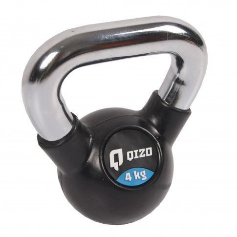 Gantera Qizo Kettlebell, cauciuc, 4 kg