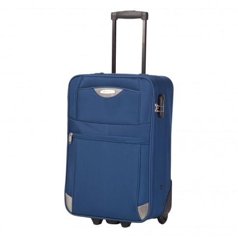 Troler Lamonza Atlanta, poliester, albastru, 55 x 36 x 20 cm
