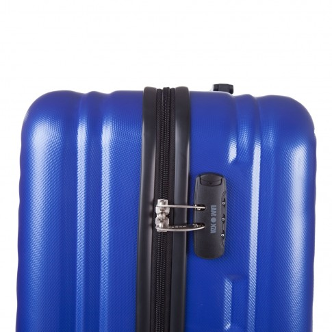 Troler Lamonza Fantasy, ABS, albastru, 77 x 51 x 29 cm