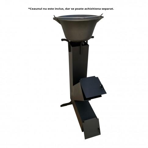 Soba tip racheta FM, otel emailat, 400 x 530 x 830 mm