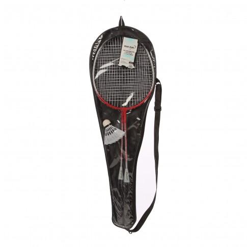 Racheta pentru badminton, set 2 buc + 1 fluturas