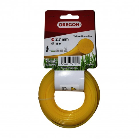Fir motocoasa Trimmy Oregon, profil rotund, PVC, 2.7 mm x 15 m