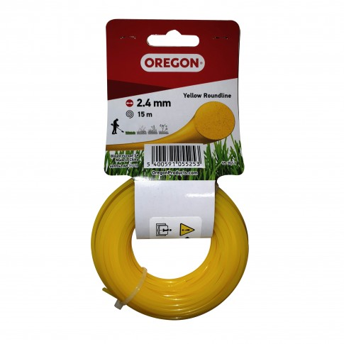 Fir motocoasa Trimmy Oregon, profil rotund, PVC, 2.4 mm x 15 m