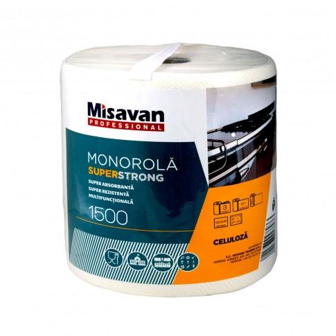Prosop de hartie Misavan Super Strong 1500, celuloza, 3 straturi, alba