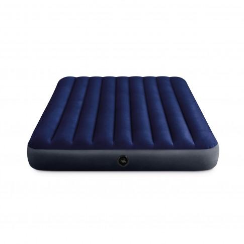 Saltea gonflabila Intex 64765, pentru camping, 2 persoane, 203 x 152 x 25 cm + pompa + 2 perne