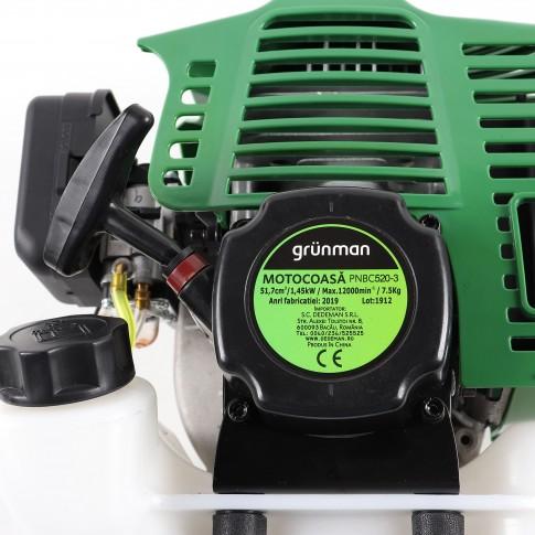 Motocoasa pe benzina Grunman PNBC520-3, 1.45 kW, 2 CP