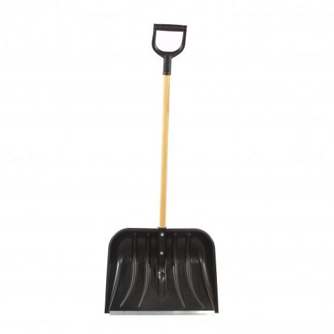 Lopata pentru zapada, polipropilena, Smart 55 Basic, cu coada lemn, 137 cm