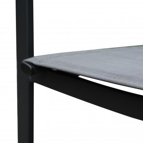 Set masa dreptunghiulara, cu 6 scaune, pentru gradina Marseille, din metal cu textil