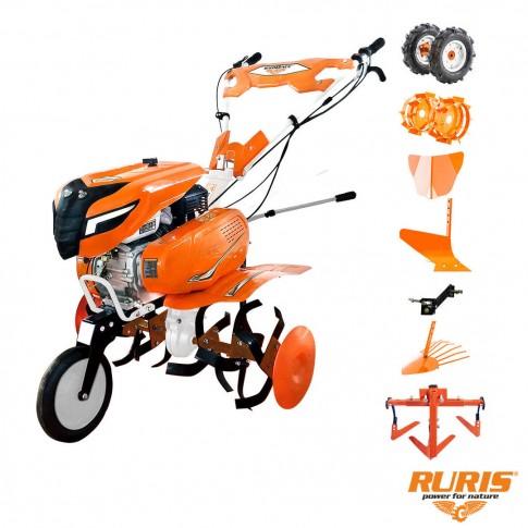 Motocultor pe benzina Ruris 6500, 7 CP, 3 viteze + accesorii
