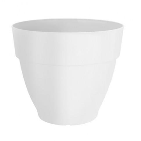 Ghiveci din plastic Vibia Campana, alb, D 30 cm