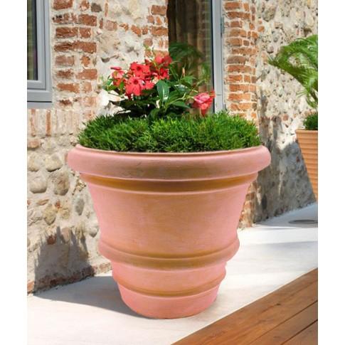 Ghiveci ceramic Imprunetino, teracota, rotund, 45 x 38 cm
